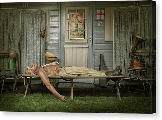 All Quiet On The Western Front-part One Canvas Print by Ronald Van Grinsven