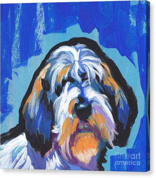 Griffons Canvas Print - All Rhymes Pbgv by Lea S