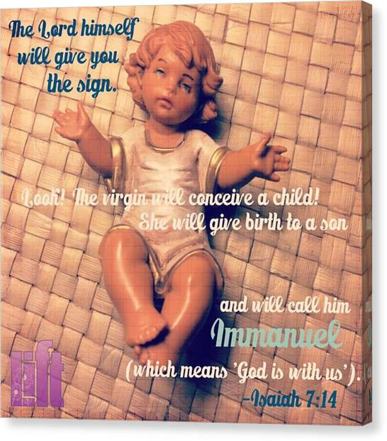 Design Canvas Print - All Right Then, The Lord Himself Will by LIFT Women's Ministry designs --by Julie Hurttgam