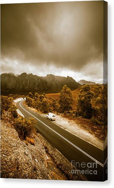 Touring Canvas Print - All Roads Lead To Adventure by Jorgo Photography - Wall Art Gallery