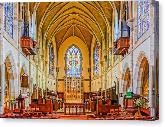 All Saints Chapel, Interior Canvas Print