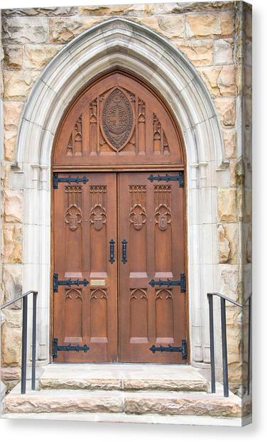 The University Of Tennessee Canvas Print - All Saints Door by John Suter