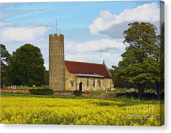 All Saints Frostenden. Canvas Print by Stan Pritchard