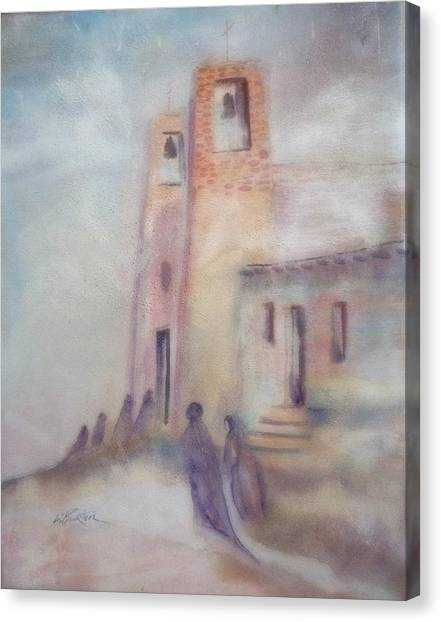 Lynn Burton Canvas Print - All Saints Mission by Lynn Burton
