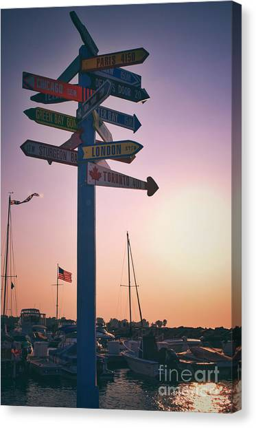 All Signs Point To Sunset Canvas Print by Mark David Zahn Photography