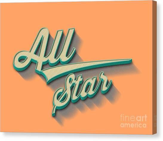 All Star Canvas Print - All Star Tee by Edward Fielding