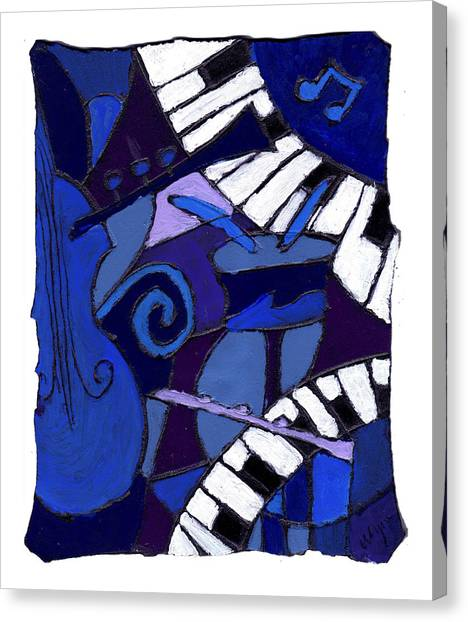 Electronic Instruments Canvas Print - All That Jazz 3 by Wayne Potrafka