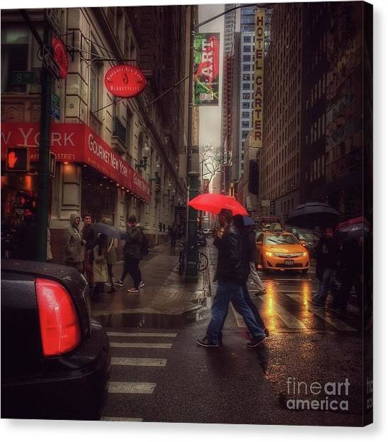 All That Jazz. New York In The Rain. Canvas Print