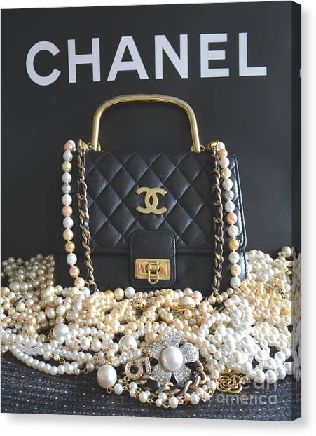 Chanel Canvas Print - Timeless Beautiful Accessories  by To-Tam Gerwe