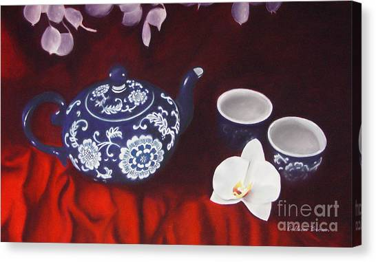 All The Tea In China Canvas Print by Colleen Brown