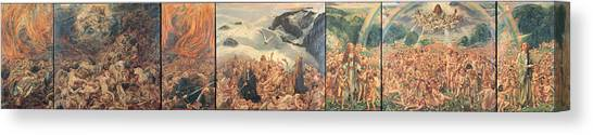 Resurrected Canvas Print - All Things Die  But All Will Be Resurrected Through God's Love by Leon Frederic