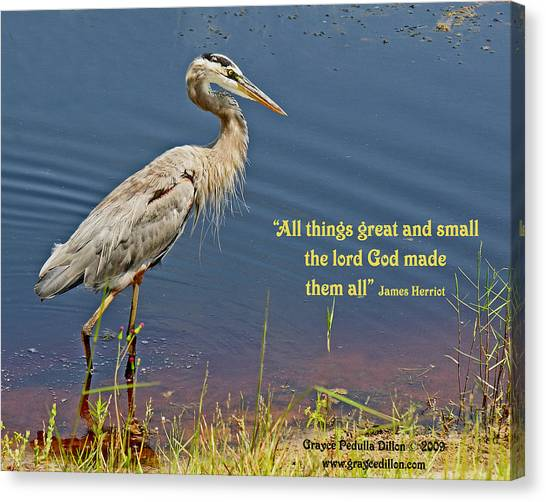All Things Great And Small Canvas Print