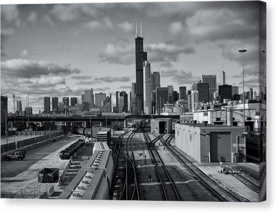 All Tracks Lead To Chicago Canvas Print
