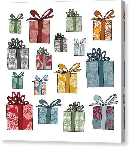 Christmas Canvas Print - All Wrapped Up by Sarah Hough