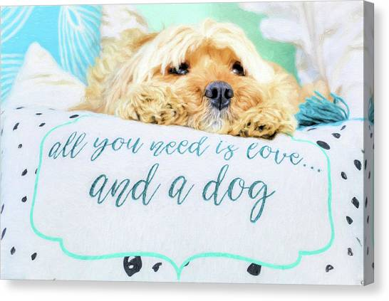 All You Need Is Love And A Dog Canvas Print by JC Findley