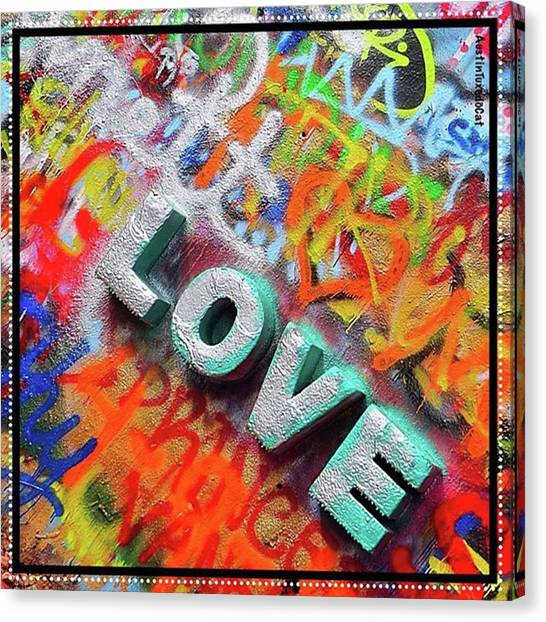 Word Art Canvas Print - All You Need Is #love. And Maybe by Austin Tuxedo Cat