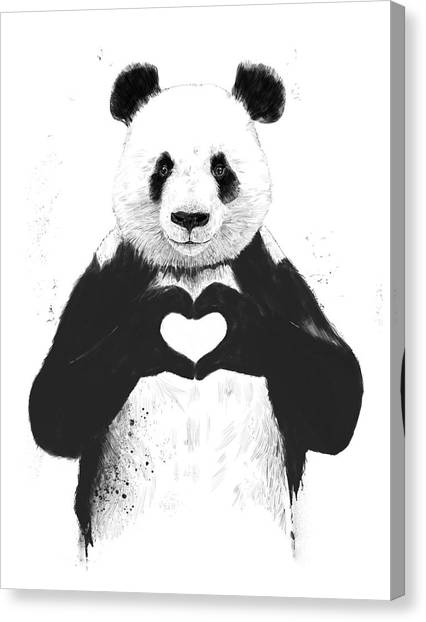 Humor Canvas Print - All You Need Is Love by Balazs Solti