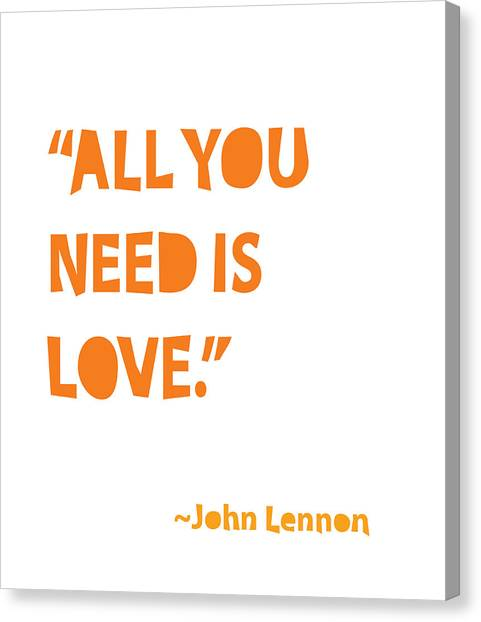 Wedding Day Canvas Print - All You Need Is Love by Cindy Greenbean