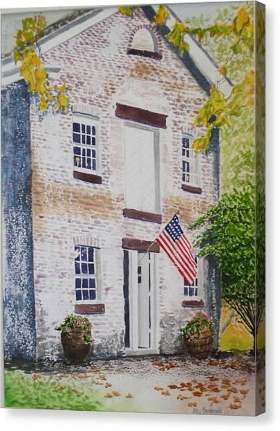 Allaire Carpenter Shop Canvas Print by Ally Benbrook