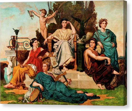Vulcans Canvas Print - Allegory To The Arts by Leon Palliere