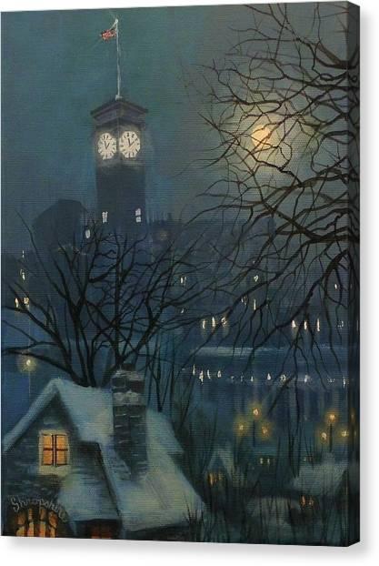 Milwaukee Canvas Print - Allen Bradley Clock Milwaukee by Tom Shropshire
