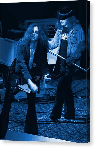 Allen Collins And Ronnie Van Zant Same Old Winterland Blues Canvas Print