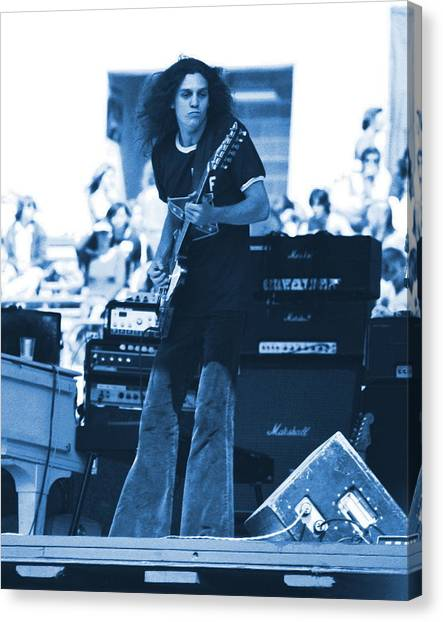 Allen Collins In Blue Oakland 1975 Canvas Print