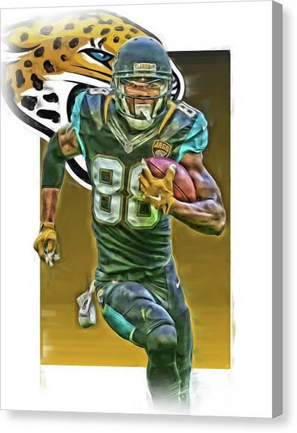 Jacksonville Jaguars Canvas Print - Allen Hurns Jacksonville Jaguars Oil Art 2 by Joe Hamilton