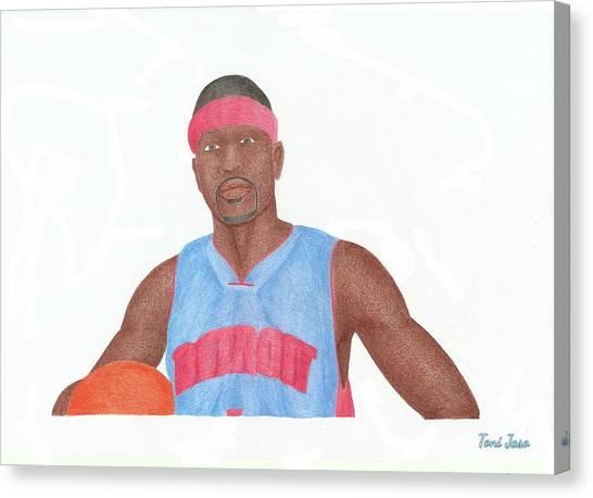 Memphis Grizzlies Canvas Print - Allen Iverson by Toni Jaso