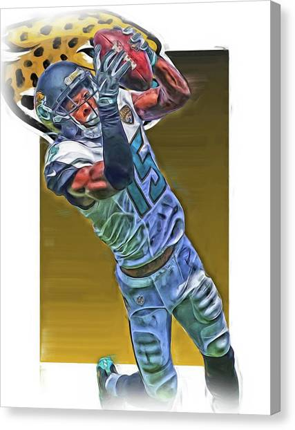 Jacksonville Jaguars Canvas Print - Allen Robinson Jacksonville Jaguars Oil Art by Joe Hamilton
