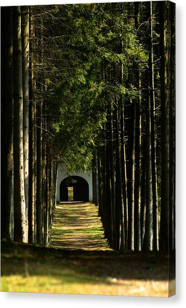 Alley At The Monastery Canvas Print