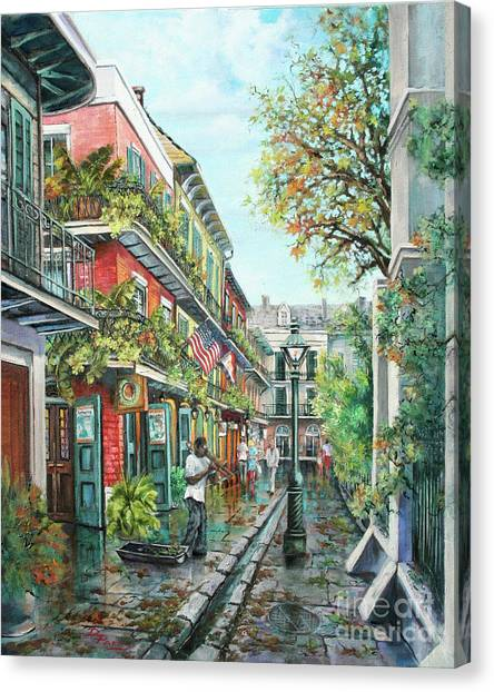 Alley Jazz Canvas Print