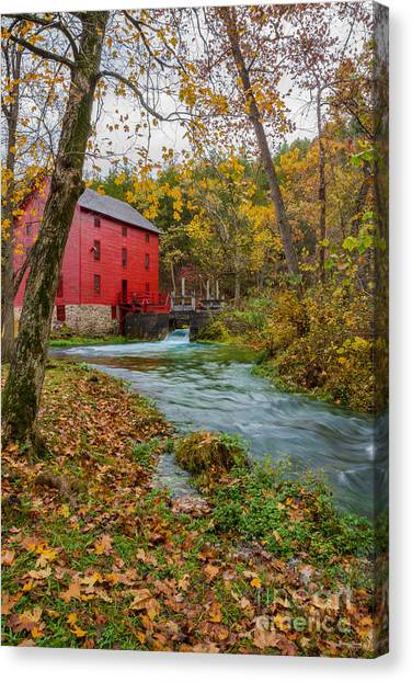 Alley Mill In Autumn Canvas Print