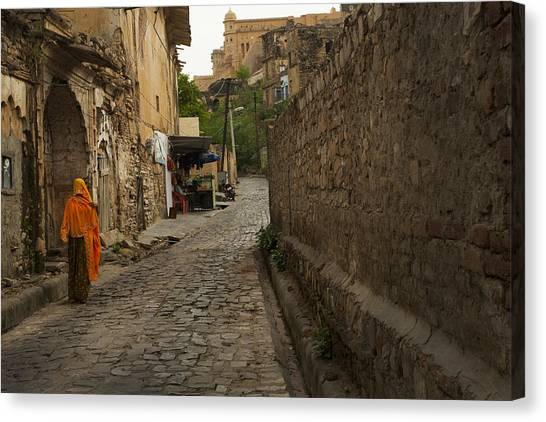Alley To The Palace On The Hill Canvas Print
