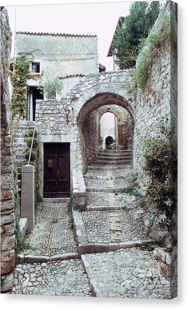 Alley With Arches Canvas Print