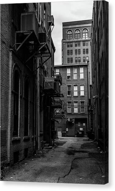 Canvas Print featuring the photograph Alleyway I by Break The Silhouette