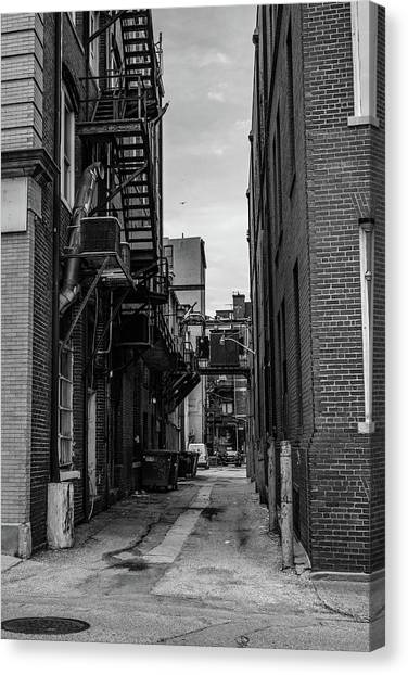 Canvas Print featuring the photograph Alleyway II by Break The Silhouette