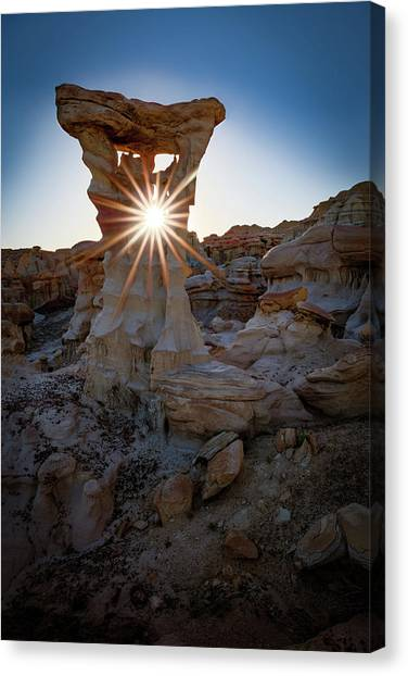 Metallic Canvas Print - Allien's Throne by Edgars Erglis