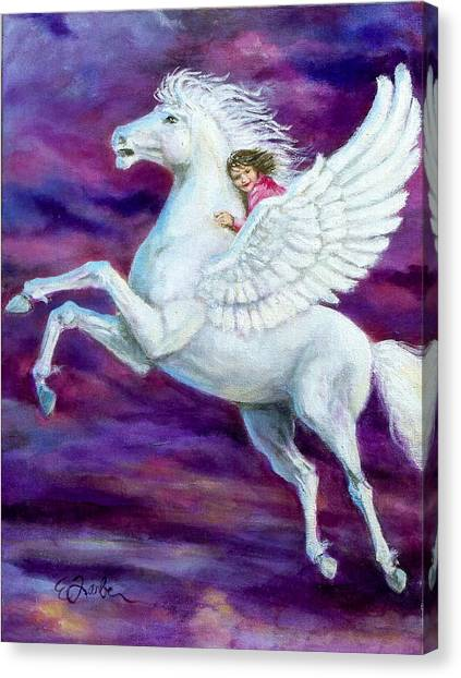 Pegasus Canvas Print - Allie's Dream by Edward Farber