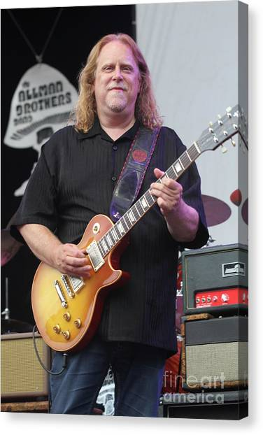 The Allman Brothers Canvas Print - Allman Brothers Band Warren Haynes by Concert Photos