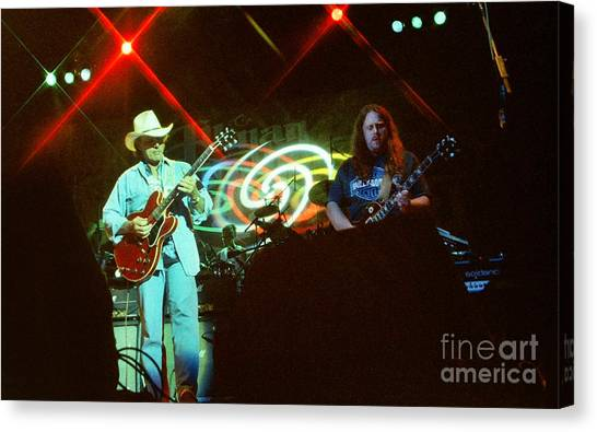 The Allman Brothers Canvas Print - Allman Brothers-dickey-1048 by Gary Gingrich Galleries