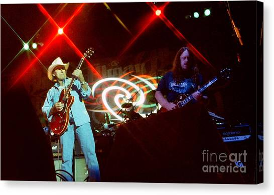 The Allman Brothers Canvas Print - Allman Brothers-dickey-1051 by Gary Gingrich Galleries