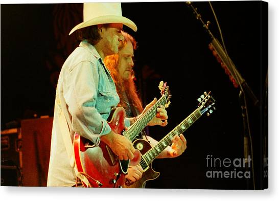 The Allman Brothers Canvas Print - Allman Brothers-dickey-warren-1138 by Gary Gingrich Galleries