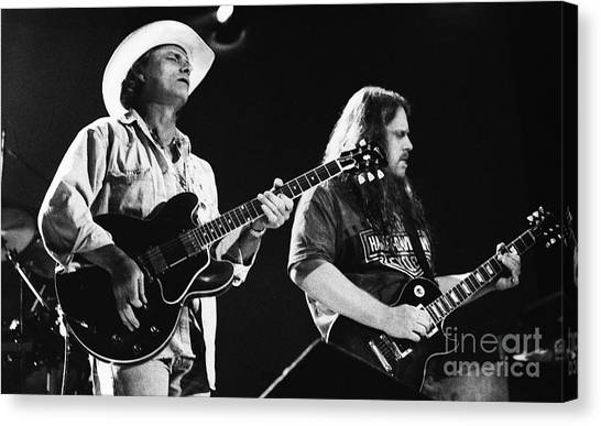 The Allman Brothers Canvas Print - Allman Brothers-dickey-warren-0164 by Gary Gingrich Galleries