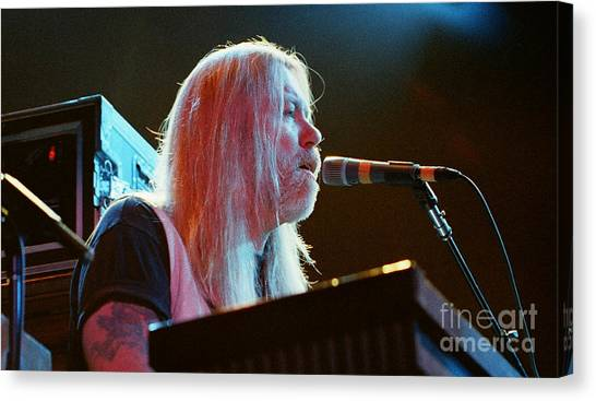 The Allman Brothers Canvas Print - Allman Brothers-gregg-1084 by Gary Gingrich Galleries