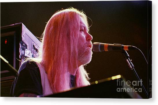 The Allman Brothers Canvas Print - Allman Brothers-gregg-1092 by Gary Gingrich Galleries