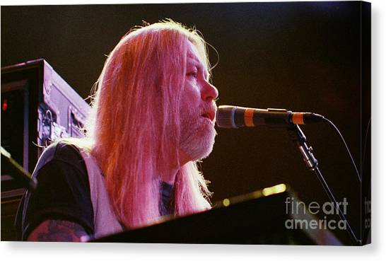 The Allman Brothers Canvas Print - Allman Brothers-gregg-1093 by Gary Gingrich Galleries