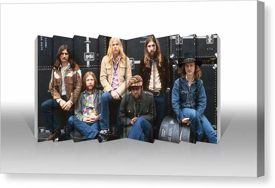 The Allman Brothers Canvas Print - Allman Brothers by Love Art