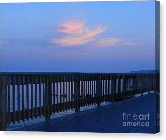 Alls Quiet On The Beach Front Canvas Print