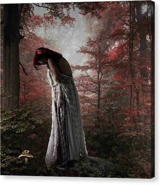 Woodland Canvas Print - Almost Alone by G Berry